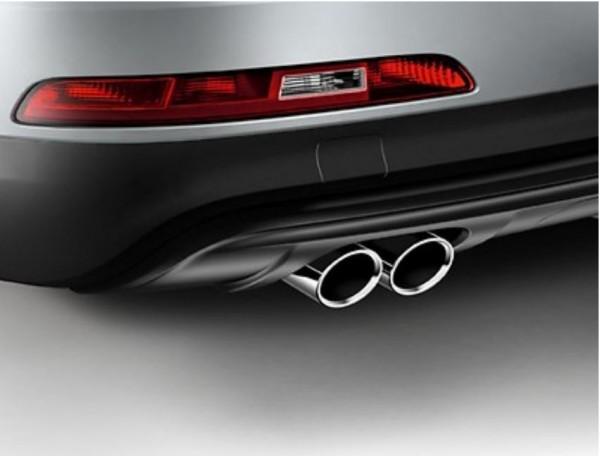 Sport-Endrohrblende Chrom für Audi Q3 8U ab MJ 2012 4-Zylinder Modelle