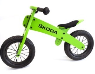 Kinder Laufrad aus Holz, Grün