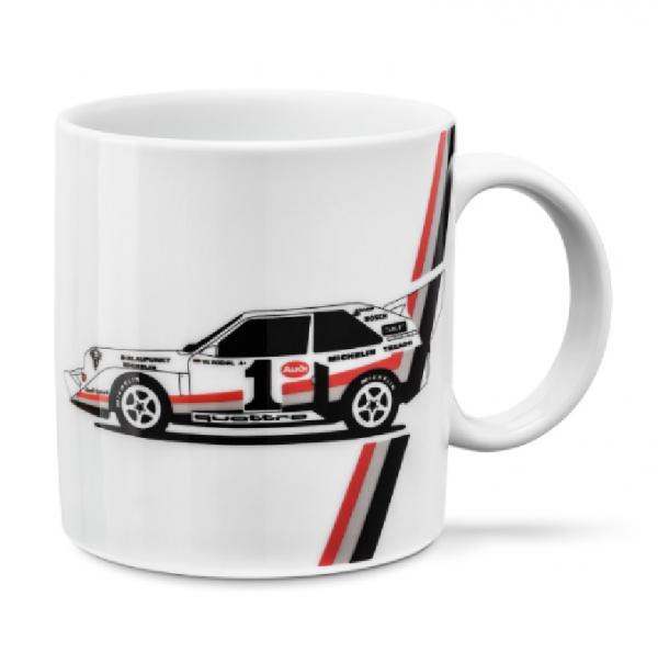 Audi Sport heritage Tasse, weiß