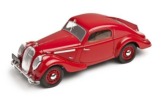 ŠKODA Modellauto Popular 1936, 1:18, Farbe Rot