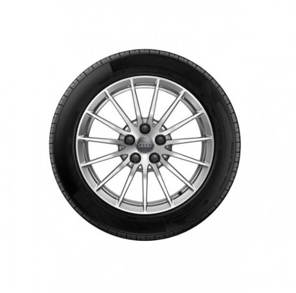 Winterkomplettrad-Satz im 15-Speichen-Design 225/50 R17 Continental