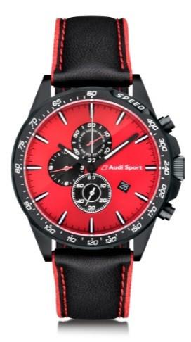 Audi Sport Chronograph, Herren, rot/schwarz
