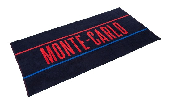 ŠKODA Badetuch / Strandtuch Monte Carlo, dunkelblau - rot