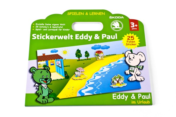 ŠKODA Spieltafel/Stickerwelt Eddy & Paul