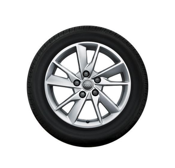 Winterkomplettrad-Satz im 5-Arm-Facetten-Design Audi A4 8W 205/60 R16