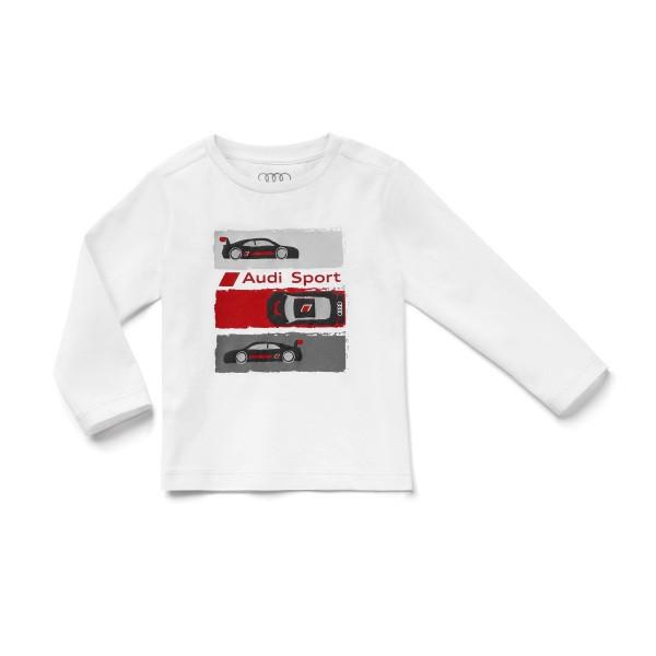 Audi Sport Shirt Langarm, Kleinkinder, weiß, verschiedene Größen