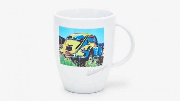 Volkswagen Klassik Becher Käfer Heckansicht im Pop-Art-Stil