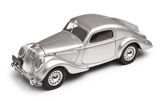 ŠKODA Modellauto Popular 1936, 1:18, Farbe Silbergrau