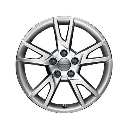 Winter-Aluminium-Gussrad im 5-Arm-Semi-Y-Designbrillantsilber, 7 J x 18