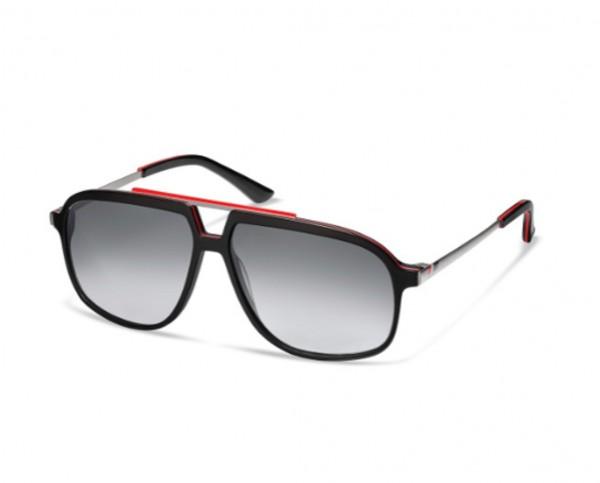 Audi heritage Sonnenbrille, Unisex, schwarz/rot