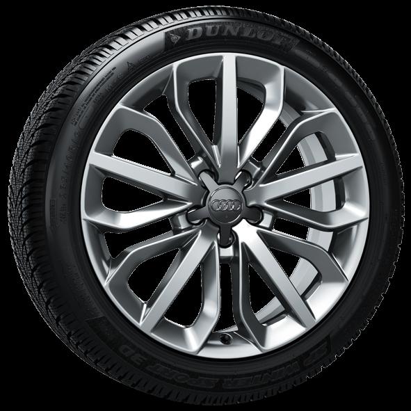 Winterkomplettrad-Satz im 15-Speichen-Stern-Design 235/45 R19 99V Dunlop Audi A6 ab MJ 2012