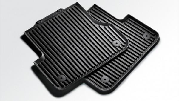 Allwetterfußmatten Audi Q2 für hinten, schwarz