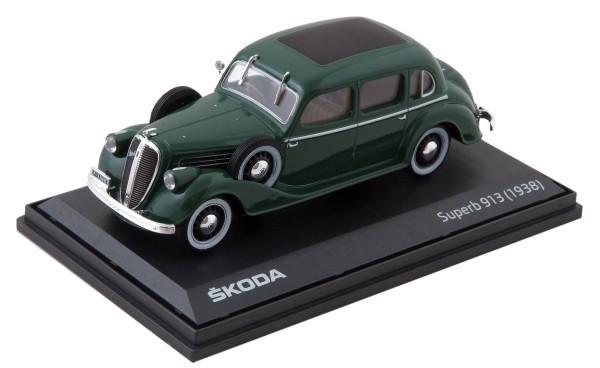 ŠKODA Modellauto Superb 913 (1938), 1:43, Farbe Dark Green