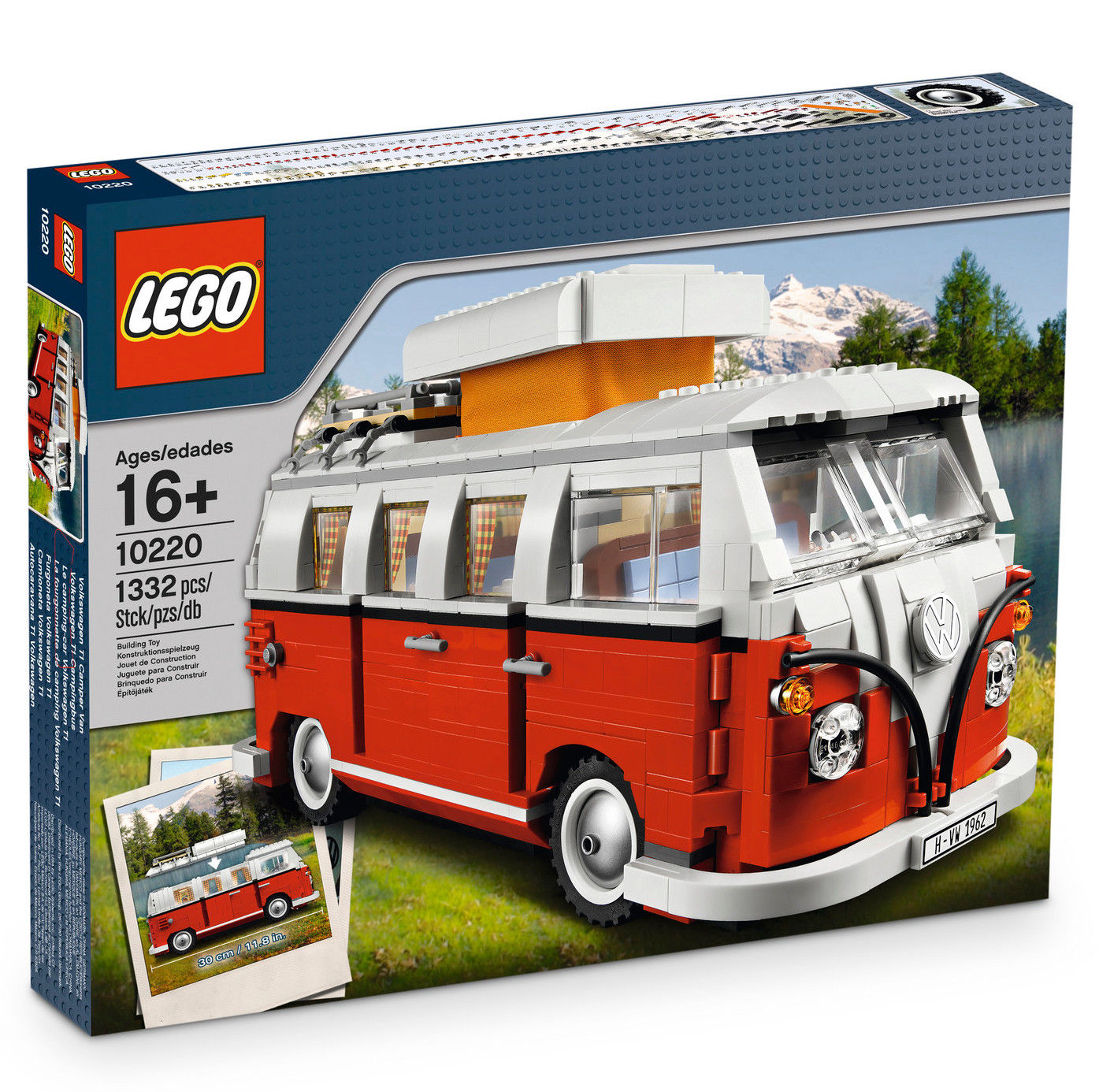 vw bulli lego spielzeug bausatz camping t1 rot wei kinderwelt accessoires volkswagen. Black Bedroom Furniture Sets. Home Design Ideas