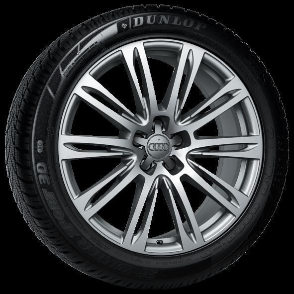 Winterkomplettrad-Satz im 10-Parallelspeichen-Design 265/40 R20 104V Dunlop Audi A8 MJ 2010 - 2017