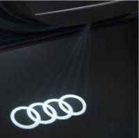 Audi Einstiegs-LED, Audi Ringe, für Fahrzeuge mit LED-Einstiegsleuchten
