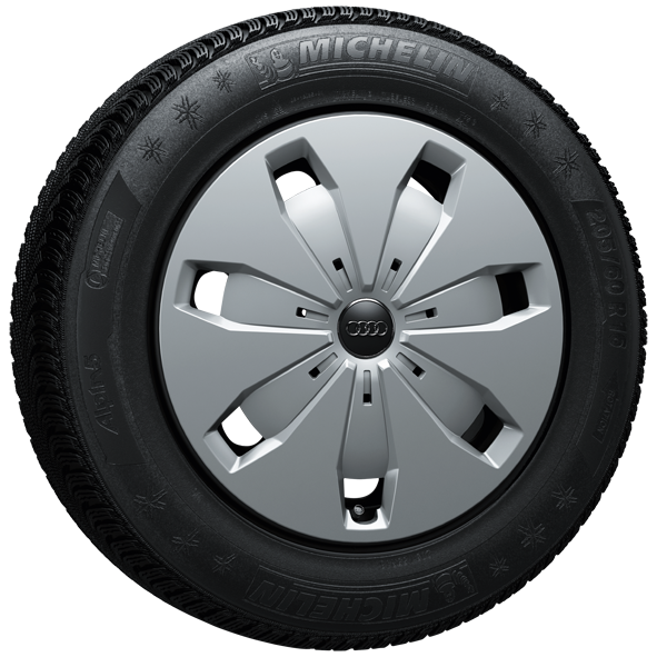 Winterkomplettrad-Satz aus Stahl mit Radvollblende 205/60 R16 92H Michelin Audi Q2