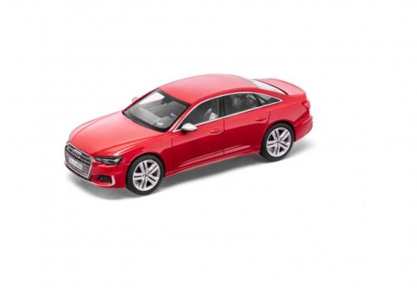 Modellauto Audi S6 limitiert, Tangorot, 1:43