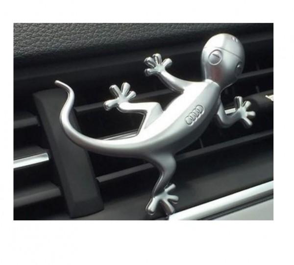 Audi Designgecko in Aluminiumoptik