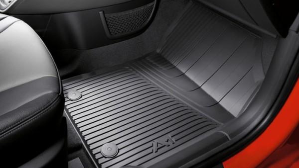 Gummifußmatten Audi A1 8X für vorne, schwarz