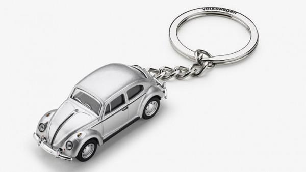 VW Klassik Schlüsselanhänger Käfer silber