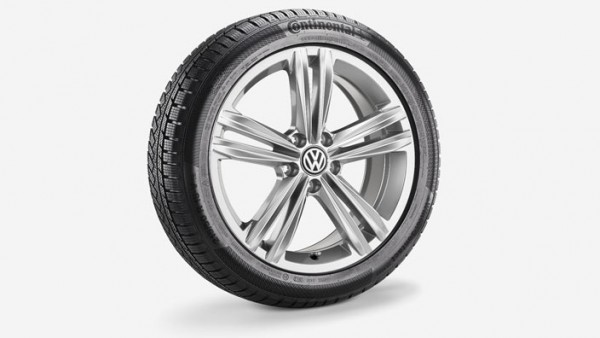 Volkswagen T-Roc Winterkomplettradsatz 215/50 R18 92V Continental TS850P SUV, Sebring, Grau Metallic