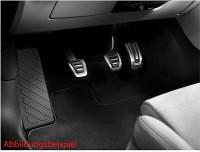 Edelstahl Pedalkappen-Satz inkl. Fußstütze für Audi A4/A5 8W Schaltgetriebe