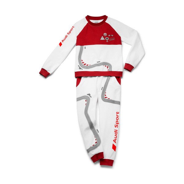 Audi Sport Schlafanzug Racing, Kleinkinder, weiß/rot, verschiedene Größen
