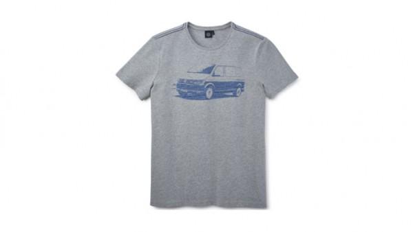 Volkswagen Nutzfahrzeuge T-Shirt T6-Aufdruck, grau, Herren