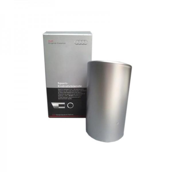 Sport-Endrohrblende, Aluminium matt