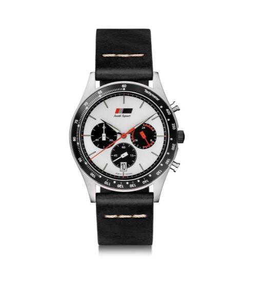 Audi heritage Chronograph, Herren, schwarz/weiß