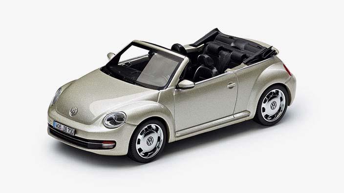 modellauto beetle cabriolet 1 43 moon rock silver. Black Bedroom Furniture Sets. Home Design Ideas