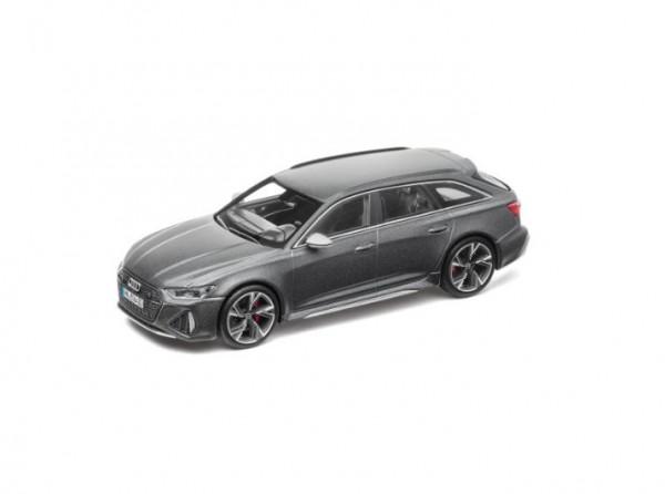Modellauto Audi RS 6 Avant, Daytonagrau matt, 1:43