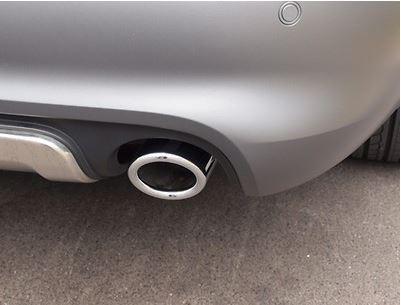 Sport-Endrohrblenden Edelstahl verchromt, Audi A6 4F 6-Zylinder