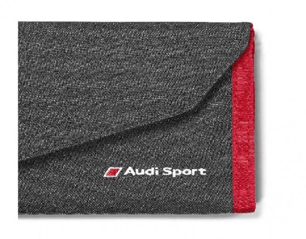 Audi Sport Geldbörse, schwarz/rot