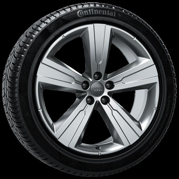 Winterkomplettrad-Satz im 5-Arm-Crena-Design 255/50 R20 109H Audi Q7 4M ab MJ 2016