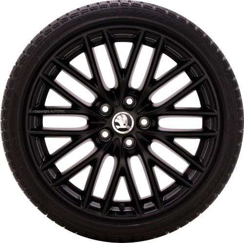 ŠKODA Winterkomplettradsatz Yeti | Octavia | Superb 225/40 R18 92V Pirelli auf Alufelge Borbet BS5 m