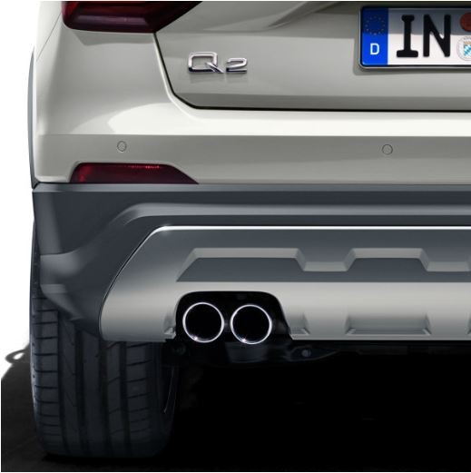 Sport-Endrohrblende Audi Q2 Einzelrohr links, schwarz verchromt