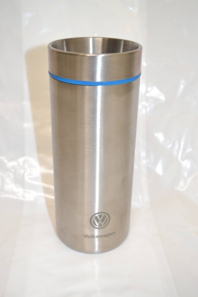 VW Thermobecher, 400ml, Blau/Mattsilber, Volkswagen Kollektion