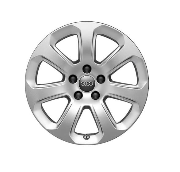 Winter-Aluminium-Gussrad im 7-Arm-Designbrillantsilber, 7,5 J x 17