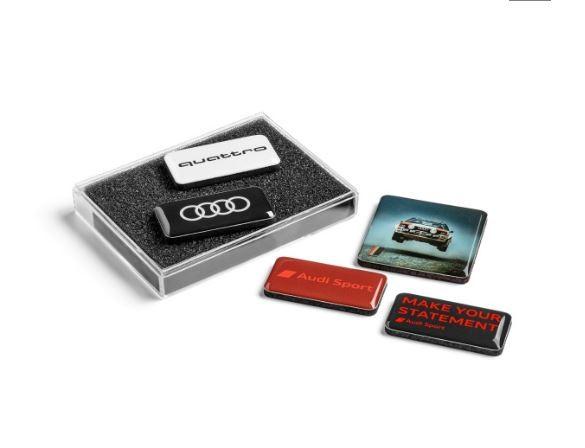 Audi Magnetset - verschiedene Logos - Magnete