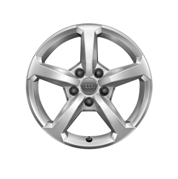 Winter-Aluminium-Gussrad im 5-Speichen-Designbrillantsilber, 6 J x 16