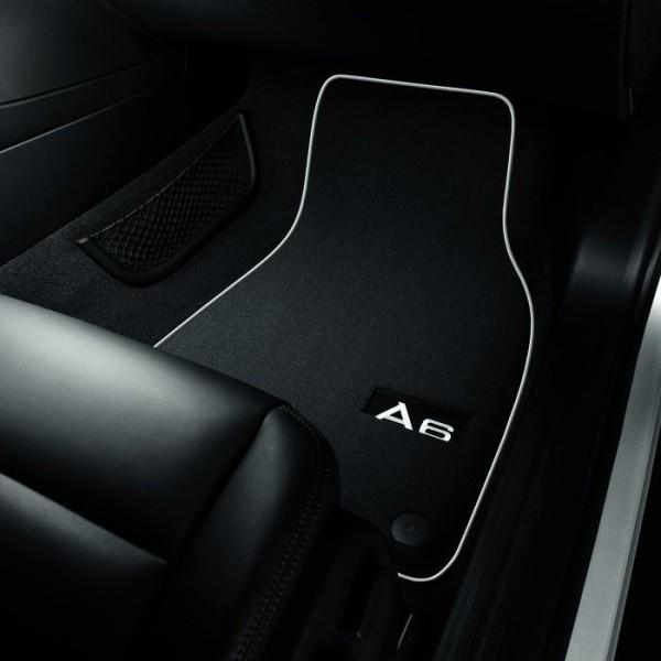 Textilfußmatten-Set Premium für vorne und hinten, schwarz/silbergrau Audi A6 4F