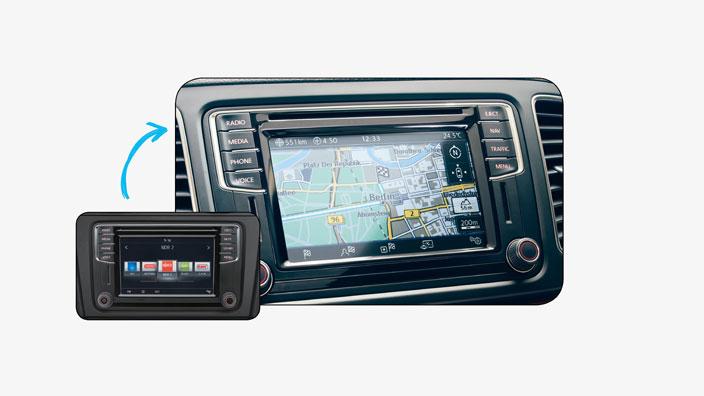 Nachrüstung Discover Media PQ im VW T6, Beetle, Scirocco