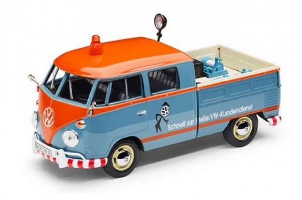 """Volkswagen Modellauto 1:24, VW T1 Pickup, """"Kundendienst"""""""