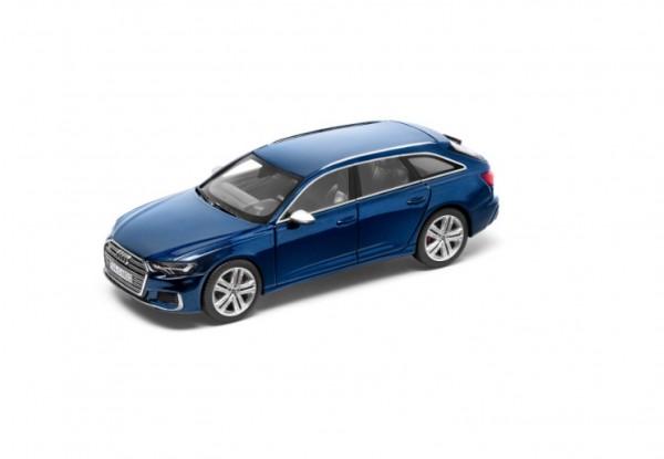 Modellauto Audi S6 Avant limitiert, Navarrablau, 1:43