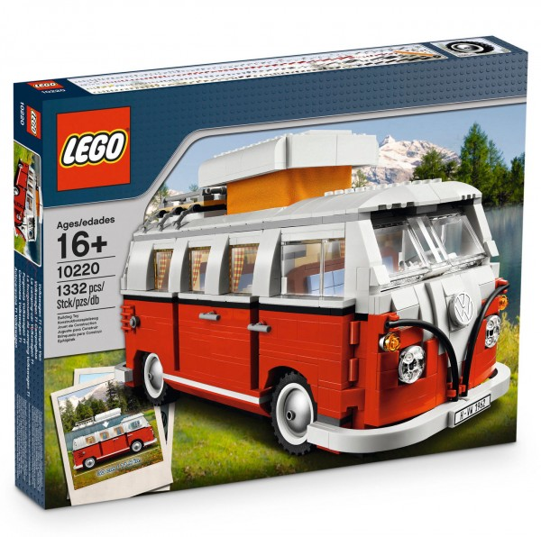 VW Bulli Lego Spielzeug Bausatz, Camping T1 rot/weiß