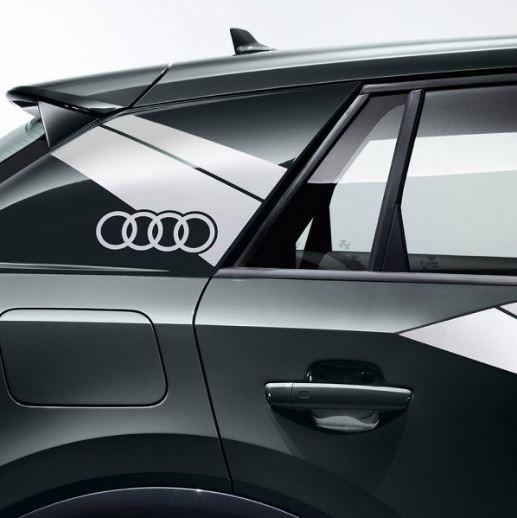 Dekorfolie im Flanken-Design Audi Q2 florettsilber matt