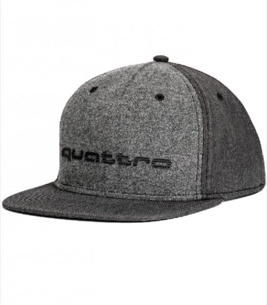 quattro Cap, grau, 55-59cm, Snapback Cap