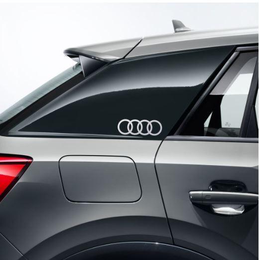 Dekorfolie Audi Ringe, florettsilber Audi Q2 für Seitenblade